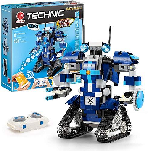 CIRO Programmierbarer and Ferngesteuerter Roboter Steuerung per APP und Fernbedienung STEM Technik Bausteine...