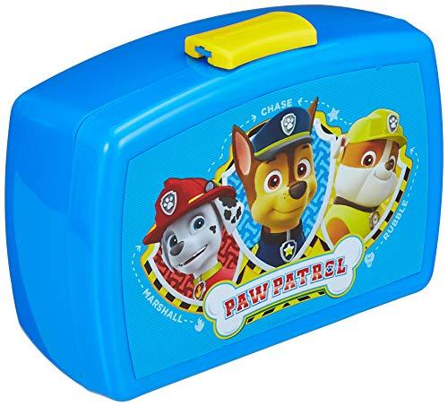 P:os 28227 - Brotdose für Jungen und Mädchen mit Einsatz im beliebten Paw Patrol Design in Blau, ca. 17 x...