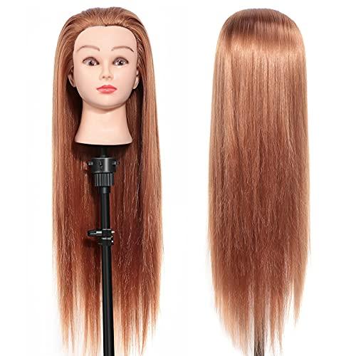 Übungskopf Trainingskopf für Friseure, DIY Haar Zubehör Styling Frisierkopf, Puppenkopf kann gefärbt oder...