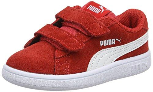 PUMA Unisex Baby Puma Smash V2 Sd V Inf Sneaker, Rot High Risk Red Puma White, 23 EU