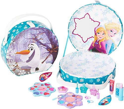 Disney Frozen Die Eiskönigin großer Schminkkoffer für Mädchen, 16teilig (Lipgloss, Lidschatten,...