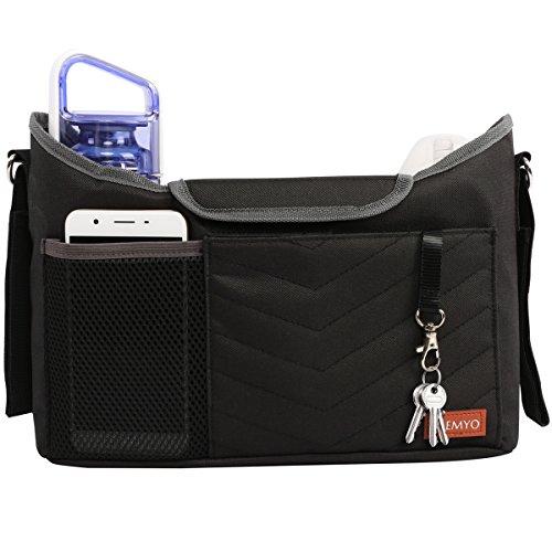 PREMYO Kinderwagen Organizer mit Getränkehalter - Universal Kinderwagentasche mit Wickelunterlage...