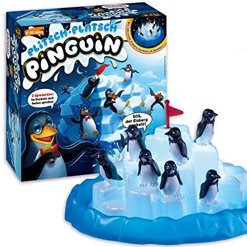 Ravensburger - 21325 - Plitsch Platsch Pinguin - großer Spielspaß mit Geschicklichkeitsfaktor für Kinder...