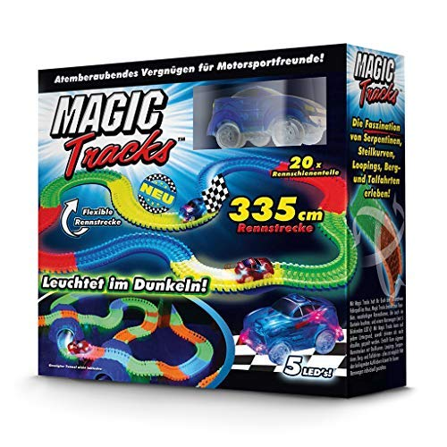 BCdirekt Car Track Magic Tracks Starter Set | Racing car Toy for Children from 3 Years Old Fluorescent | Magic...