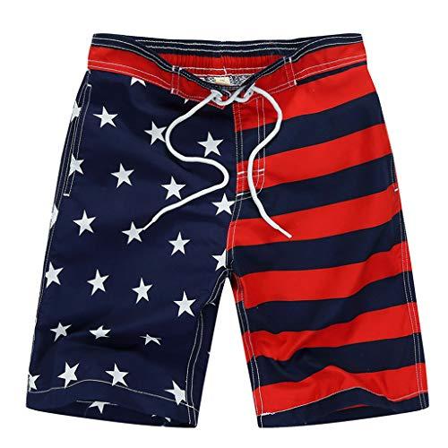 VICKY-HOHO Günstige Kinderbekleidung Sommer, 4-7 Jahre Junge Kind Kinder Schwimmen 4. Juli Trunk American...