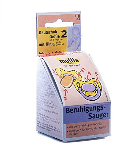 Mollis Kautschuk-Beruhigungsauger Gr.2 mit Ring 2 Stk