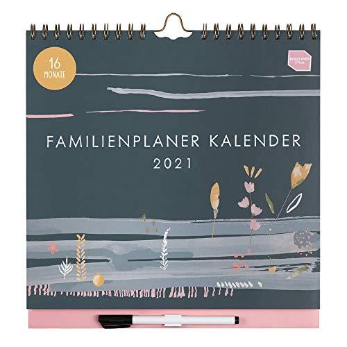 Boxclever Press Familienplaner 2021. Wandkalender 2021 mit Wochenansicht & 6-Spalten. 16-monatiger Kalender...
