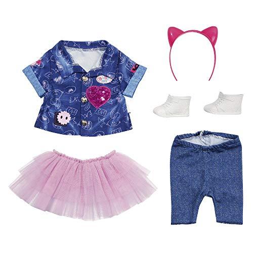BABY born Deluxe Jeans-Kleid Spiel Set für 43cm Puppe - Einfach für Kleine Hände, Kreatives Spiel fördert...