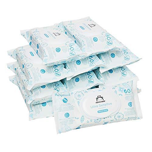 Amazon-Marke: Mama Bear Ultra Sensitive Baby Feuchttücher - 12er Packung (720 Tücher- 100% biologisch...