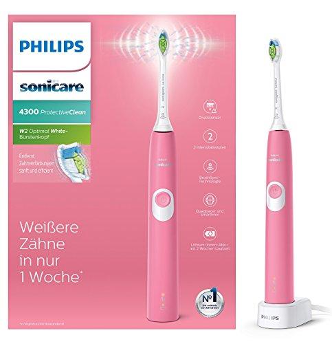 Philips Sonicare ProtectiveClean 4300 elektrische Zahnbürste HX6805/28 – Schallzahnbürste mit...