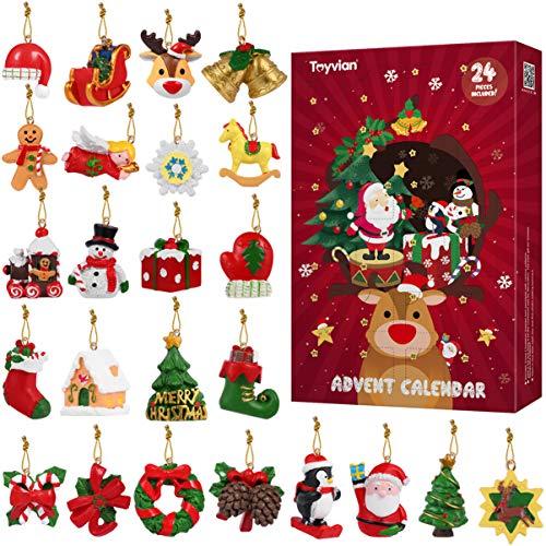 Toyvian 24 Stück hängende Ornamente, Weihnachtsanhänger Weihnachten Dekoration Weihnachtsbaumschmuck für...