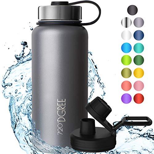 """720°DGREE Edelstahl Trinkflasche """"noLimit"""" – 1200ml - Auslaufsicher, Kohlensäure geeignet, BPA-Frei -..."""