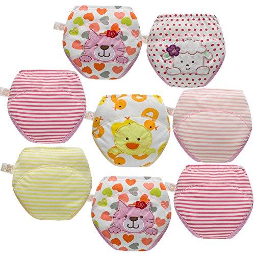Skhls Unisex Baby Kleinkind Töpfchen Trainer Trainingshose Waschbare Lernwindel (2 Jahre, 8pcs Mädchen)