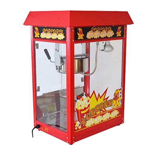 Große Popcornmaschine für knusprige Popcorn mit Wärmeplatte und Innenbeleuchtung - 1600 Watt ca. 5 Kg...
