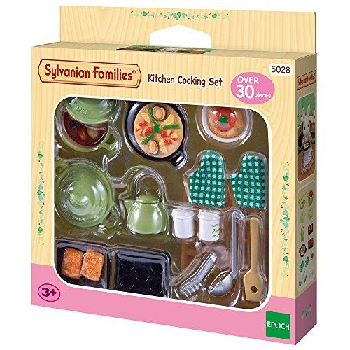 Sylvanian Families 5028 5028-Küchen Koch-Set, Puppenzubehör, Mehrfarbig