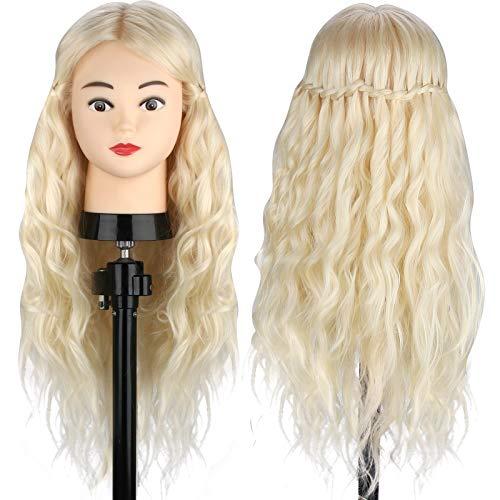 MYSWEETY Mannequin Kopf Hair Frisierkopf Übungskopf 70% Echtes Haar Kosmetologie Puppe Kopf Echtes Haar...