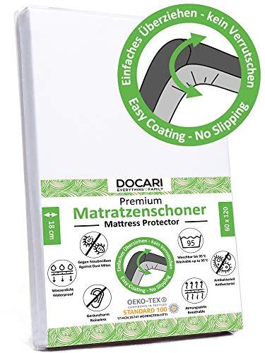 DOCARI Matratzenschoner 60x120 Baby wasserdicht atmungsaktiv | Matratzenschoner 120x60 Baby bis 18cm Höhe |...