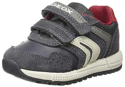 Geox Baby-Jungen B ALBEN Boy D Sneaker, (Grey/Red), 24 EU