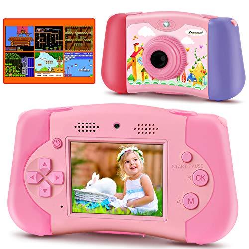PROGRACE Kinderkamera Handheld-Konsolenspiel für 4-12 Jahre alte Mädchen Spielzeuggeschenke Kinder...