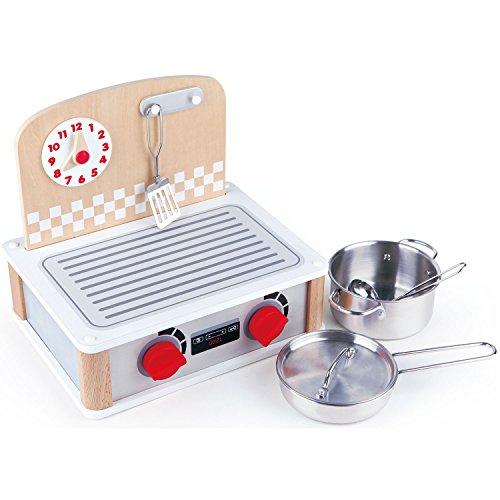 Hape International E3151 2-in-1 Küchen-& Grill-Set, Weiß