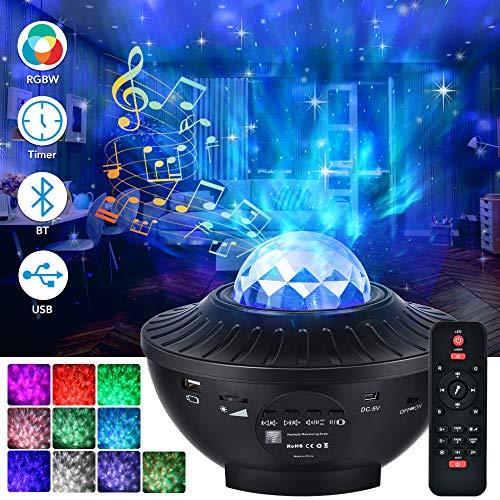 LED Sternenhimmel Projektor, 21 Modi Galaxy Light Rotierendes LED Sternenlicht 10 Farbwechselnde Nebu Licht...