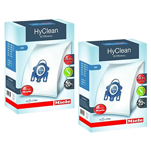 Miele GN-Staubsaugerbeutel fürC2,C3,Cat & Dog, Powerline, Silence, Ecoline, Hyclean; plus Filter, 2...