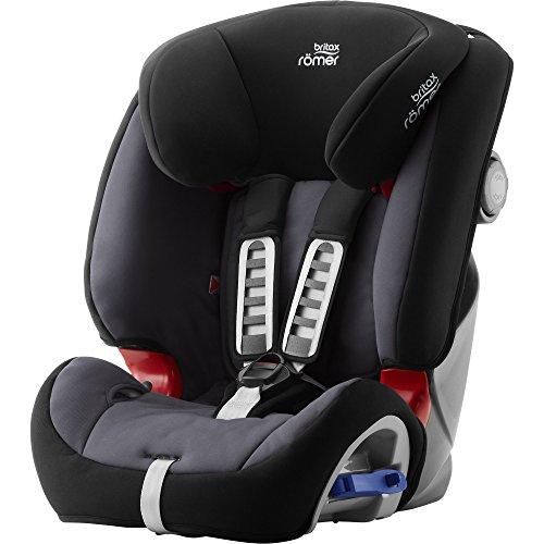 Britax Römer Reboarder Kindersitz 9 Monate - 6 Jahre | 9 - 25 kg | Multi-Tech III Autositz Gruppe 1/2 | Storm...