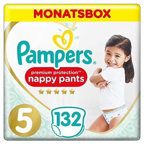 Pampers Größe 5 Premium Protection Baby Windeln, 132 Stück, MONATSBOX, Weichster Komfort Und Schutz...