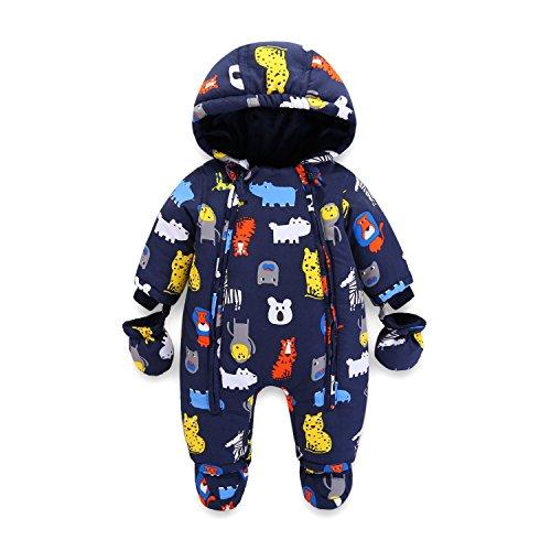 Baby Schneeanzug Spielanzug Winter Overall Reißverschluss Vorne (12-18 Monate)