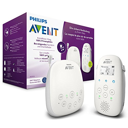 Philips Avent Audio-Babyphone SCD713/26, DECT-Technologie, Eco-Mode, 18 Std. Laufzeit, Gegensprechfunktion,...