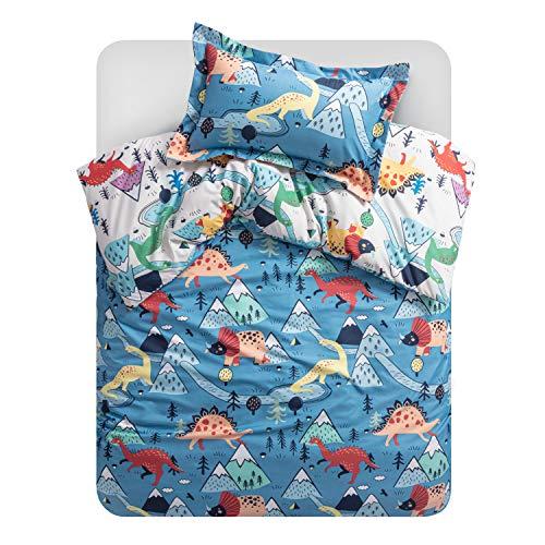 Bedsure Bettwäsche Kinder 100x135 cm Kinderbettwäsche 100 x 135 jungen, Bettwäsche Dinosaurier Muster mit...
