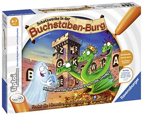 Ravensburger tiptoi Spiel 00737 Schatzsuche in der Buchstabenburg - Spielerisch Anlaute, Reime, Silben und...