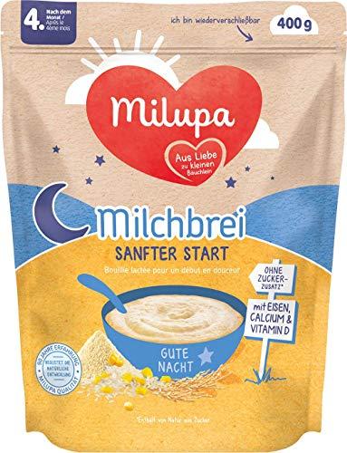 Milupa Milchbrei Sanfter Start Gute Nacht nach dem 4. Monat, 4er Pack (4 x 400 g)