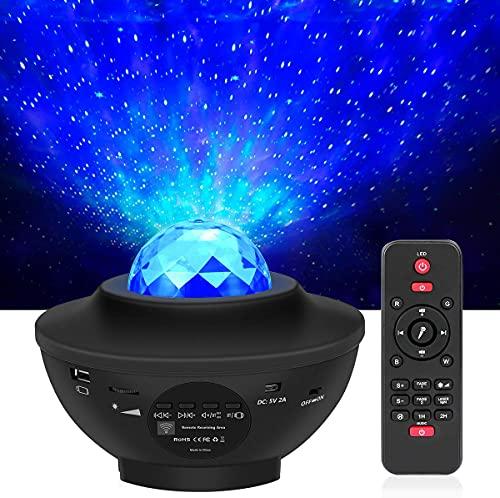 LED Projektor Sternenhimmel mit Fernbedienung, 3 in 1 Galaxy Light, Sternenlicht Stern Projektor mit Bluetooth...