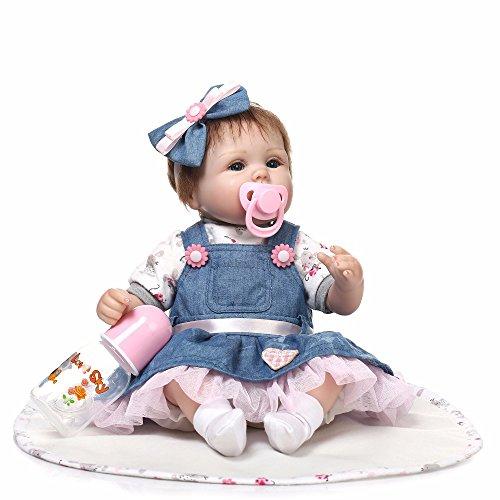 Minidiva Reborn Baby Puppe, Triplespark Qualität Realistische Baby Puppe Weich Silikon Vinyl Reborn Baby...