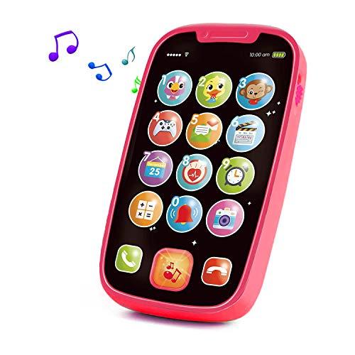 Yerloa Telefon Musikspielzeug Baby Spielzeug ab 1 Jahr,Smart Phone Baby Spielzeug ab 6 9 12...