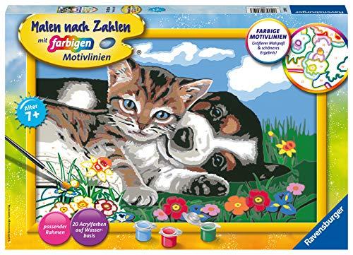 Ravensburger Malen nach Zahlen 28910 - Tierfreundschaft - Für Kinder ab 7 Jahren