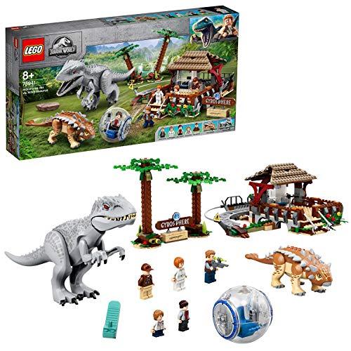 LEGO 75941 Jurassic World Indominus Rex vs. Ankylosaurus, Dinosaurier Set mit Gyrosphäre