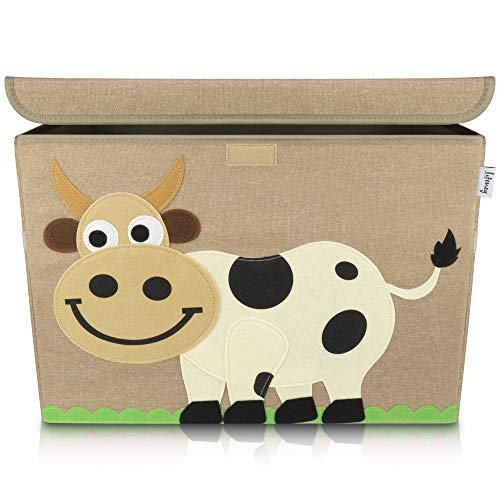 Lifeney Aufbewahrungsbox Kinder 51 x 36 x 36 cm I Kiste mit Deckel für Kinderzimmer I Aufbewahrungsbox mit...