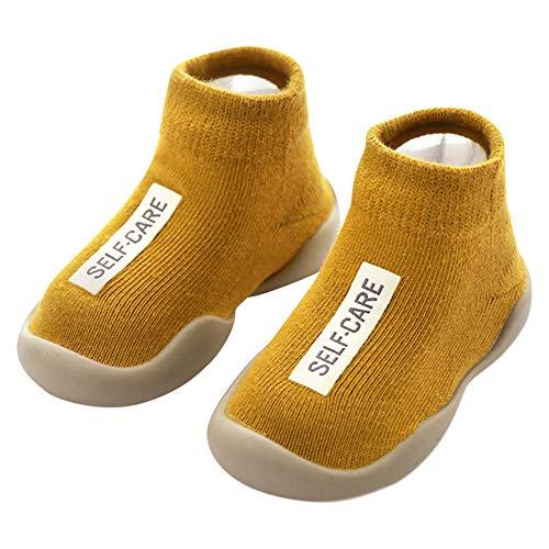 ANIMQUE Kinder Anti Rutsch Socken Schuhe Babyschuhe rutschfeste Sohle Lauflernschuhe Krabbelschuhe Weich...