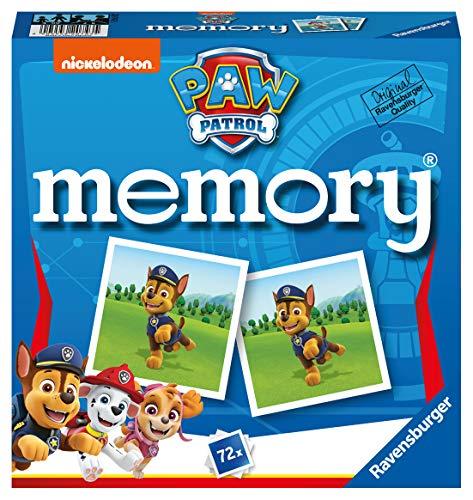Ravensburger - 20743 Paw Patrol Memory, der Spieleklassiker für alle Fans der TV-Serie Paw Patrol, Merkspiel...
