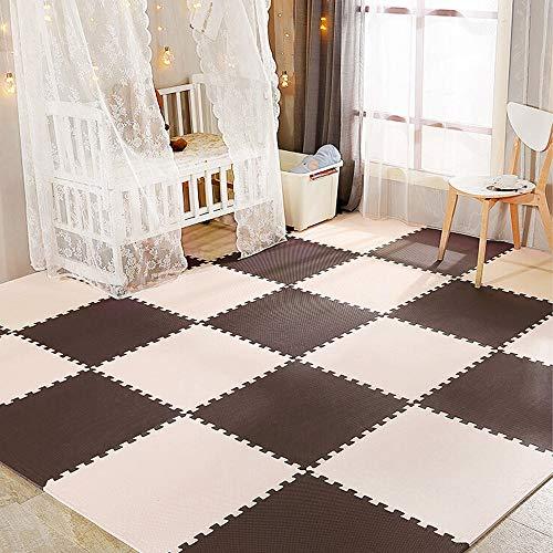 YOLEO Puzzlematte Baby 25er Set, Bodenschutzmatte 30x30cm geruchlos, Spielmatte für Babys und Kinder,...