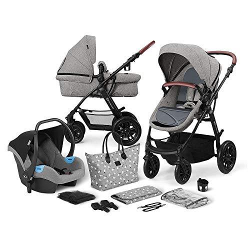 Kinderkraft Kinderwagen 3 in 1 XMOOV, Kinderwagenset, Sportwagen, Buggy und Tragewanne in Einem, Babyschale,...