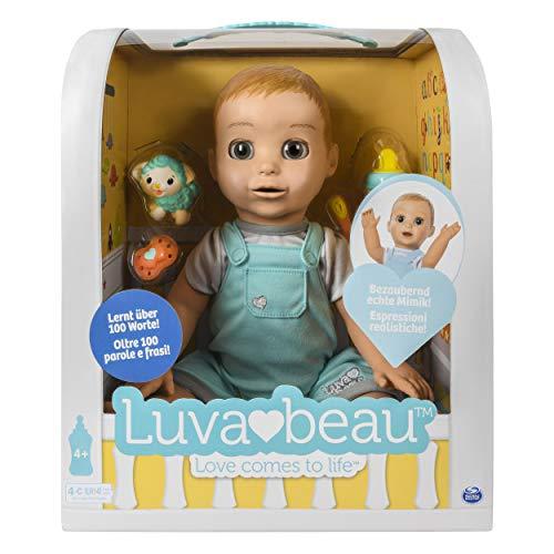 Luvabella 6046016 - Luvabeau, interaktive Jungen - Puppe mit Sprachfunktion - DEUTSCHE Version