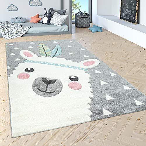 Paco Home Kinderteppich Kinderzimmer Moderne Pastell Farben, Niedliche Motive, 3D Effekt, Grösse:80x150 cm,...