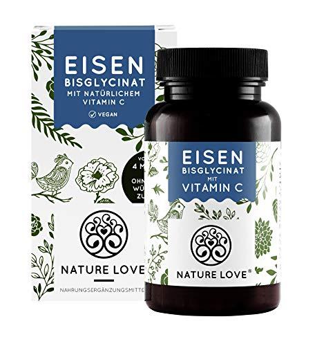 Eisen mit 40mg natürlichem Vitamin C - Mehrfacher Sieger 2020* - Doppelt-dosiert mit 40mg Eisen/Tablette -...