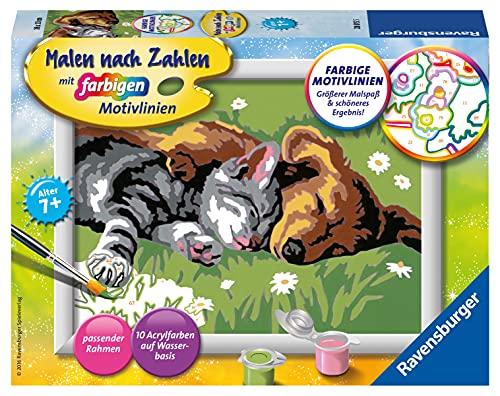 Ravensburger Malen nach Zahlen 28015 -Tiefer Schlaf - Für Kinder ab 7 Jahren