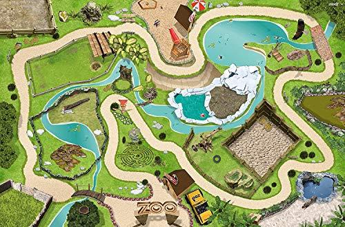 Tierpark Spielmatte (ähnlich Spielteppich) | SM04 | Hochwertige Zoo Spiel-Matte für das Kinder-Zimmer |...