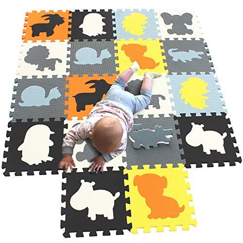 MQIAOHAM puzzelmatten Fuer Kinder spielmatte Baby bodenmatten Schaumstoff schaummatte puzzleteppich Soft...