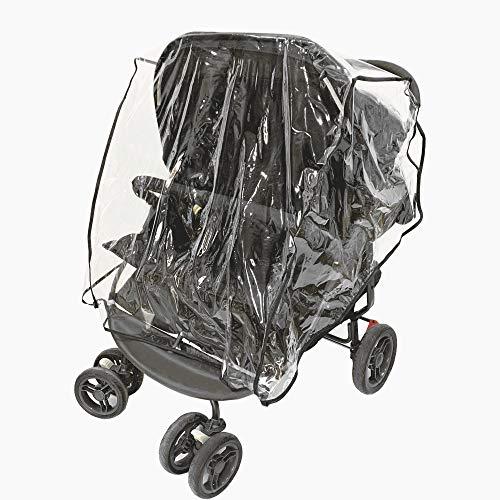 Universeller Regenschutz für Zwillinge für Kinderwagen, wasserdicht, doppelt, staubdicht, Zubehör für...